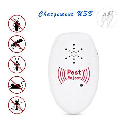 Repelente electrónico de insectos carga usb control ultrasónico de plagas repelente de insectos movible seguro y ecológico para niños y mascotas