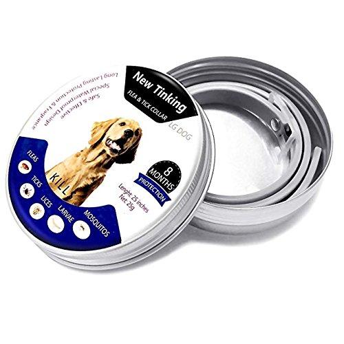 Collares de control de plagas-pulgas ajustables e impermeables y collar de garrapatas para perros y gatos con aceite esencial natural
