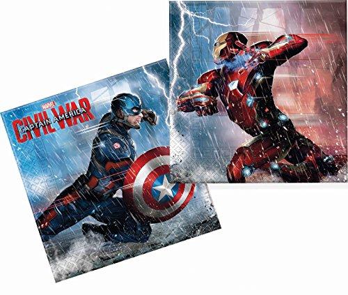 Capitán américa guerra civil servilletas de papel