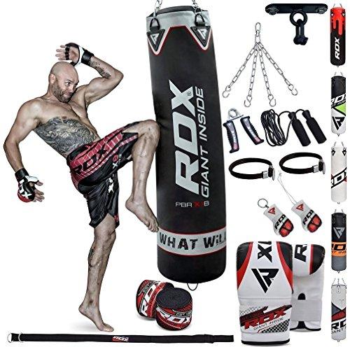 Saco de boxeo relleno mma muay thai kick boxing artes marciales con soporte techo guantes cadena 13 pc 4ft 5ft punching bag