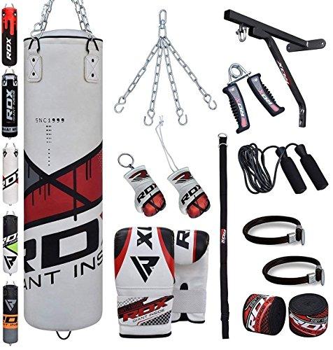 Saco de boxeo relleno mma muay thai kick boxing artes marciales con soporte pared cadena guantes 17pc 4ft 5ft punching bag