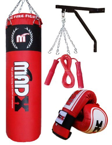 Juego de boxeo con saco de piel