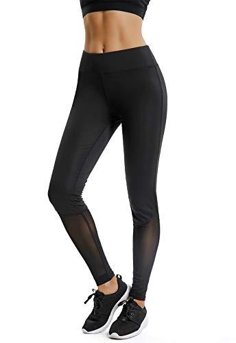 Mallas pantalones deportivos leggings mujer yoga de alta cintura elásticos y transpirables para yoga running fitness con gran elásticosa27a