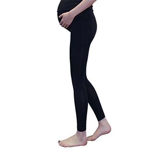 Las mujeres embarazadas maternidad medias pantalones leggings opaco medias 100 denier