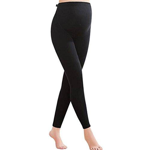 Maternidad ajustable cintura gruesa algodón polainas legging mujeres embarazadas premamá pantalones