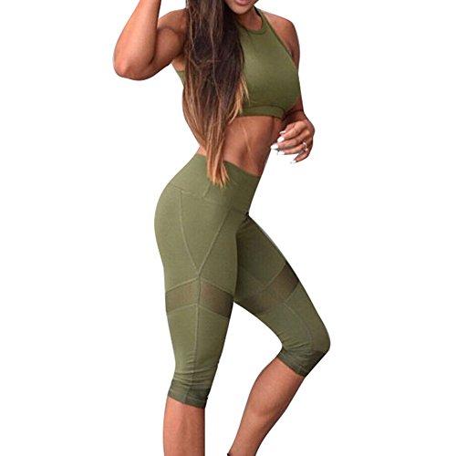 Mujer fitness chandal ropa de deporte dos piezas yoga set sujetador deportivo