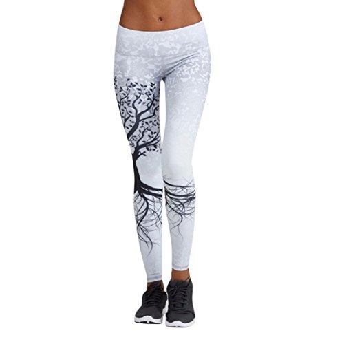 Mujer pantalones largos deportivos smartlady patrón de árbol leggings para running