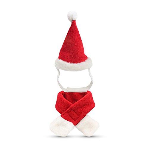 27b0ca920 Conjunto de bufanda y sombrero de navidad para mascotas accesorios de  disfraces de navidad para perros