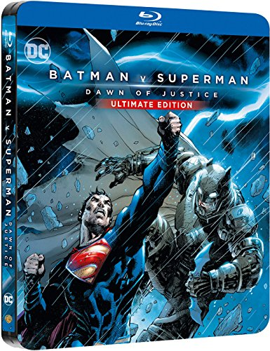 Batman v superman version extendida blu-ray dc illustrated steelbook