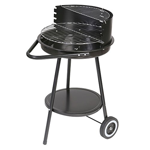 Barbacoa de carbón para jardín de acero negra basic