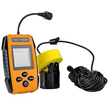 Detector de peces sonar portátil detector de peces ecos de pesca alerta de agua del lago del río deep fishfinder con sensor de transductor y pantalla lcd