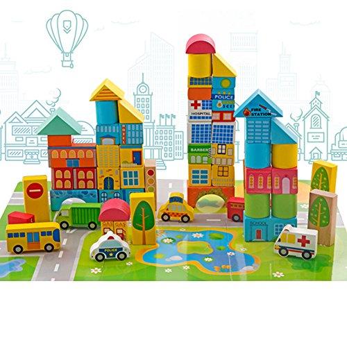 Coloreados Bloques De Construccion De Trafico Transporte Urbano