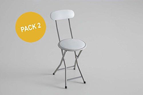 Pack 2 sillas plegables blancas