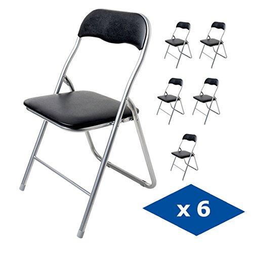 Pack 6 sillas plegables polo