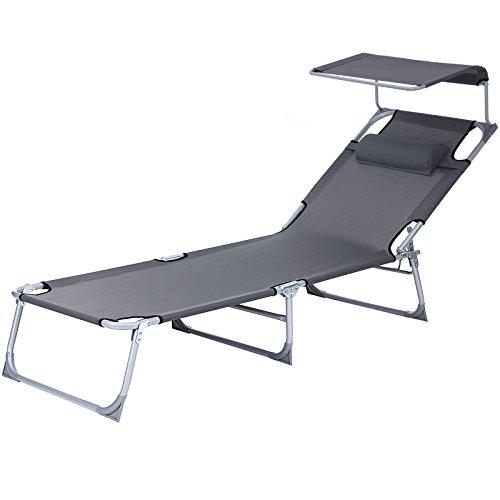 Tumbona reclinable silla para playa piscina jardín plegable 193 x 62 x 30 cm carga máx