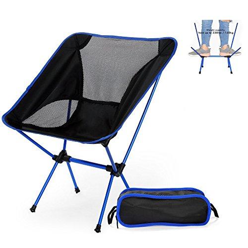 Silla plegable camping ultraligera y portátil con bolsa de transporte