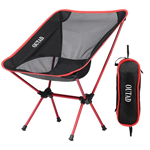 Silla de camping plegable con bolsa