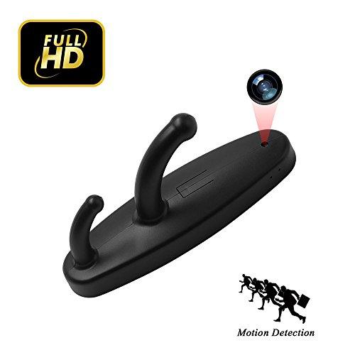 Cámara de gancho de ropa uyikoo 1280p mini pequeña cámara espía oculta cámara de vigilancia de seguridad de casa nanny cam con detección de movimiento