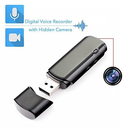 Mini grabadora de voz con cámara espía oculta integrada