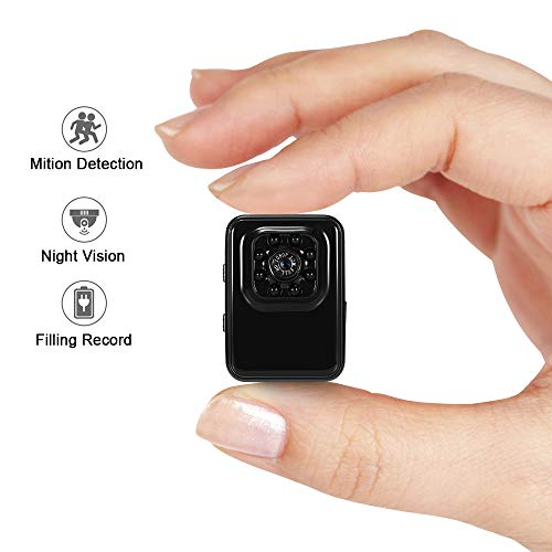Cámara espía mini cámara oculta lxmimi 1080p hd cámara pequeña portátil mini cámara con visión nocturna y detección de movimiento para el hogar