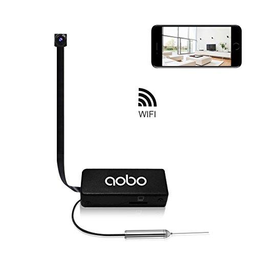 Camara espia oculta boton hd 720p spy mini wifi cámara portátil inalámbrico detección de movimiento/grabación de bucle cámara de vigilancia admite tarjeta de hasta 64gb