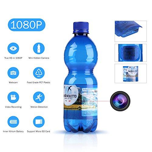 1080p hd cámara oculta espía botella de agua