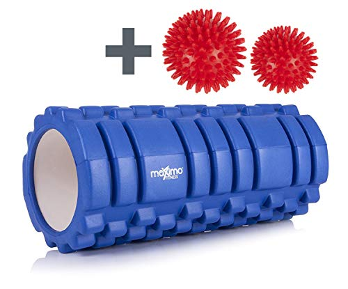 Rodillo de espuma con diseño trigger point con 2 bolas de masaje