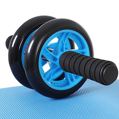 Ab roller ab wheel rueda para flexiones entrenamientos de abdominals push up con cojín del arrodillamiento spu75p