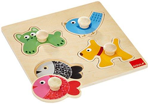 Puzzle de madera con pivotes grandes para mejor agarre de los bebes