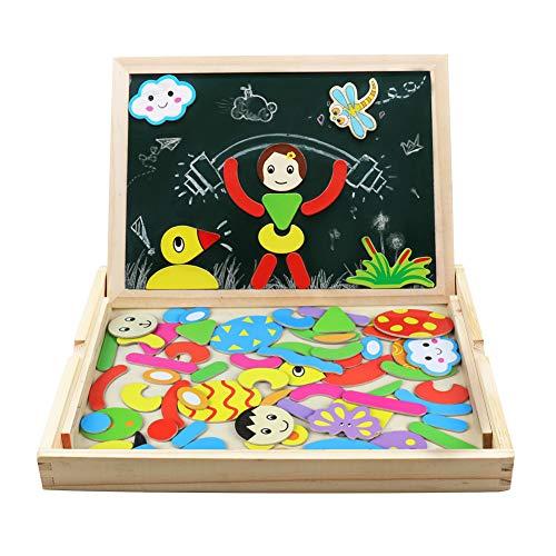 Puzzles rompecabezas magnéticos de madera juguetes educativos para niños niña 3 años