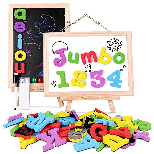 Puzzle magnetico madera juguete 119 pcs tablero de dibujo juguete con bolsa de almacenamiento para niños más de 3 años