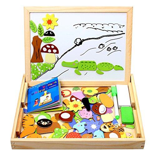 100 piezas puzzles de madera magnético
