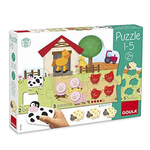 Puzzle de madera infantil para aprender a contar del 1-5