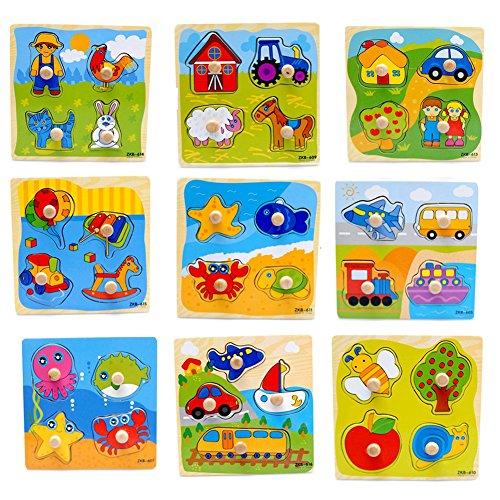 1 pc rompecabezas tridimensional del rompecabezas del niño infantil de madera juguetes del panel