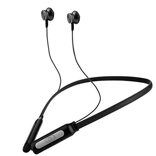 Auriculares inalámbricos ipx5 auriculares bluetooth impermeables para el deporte auriculares ligeros para el cuello con micrófono cancelación de ruido bh1,black