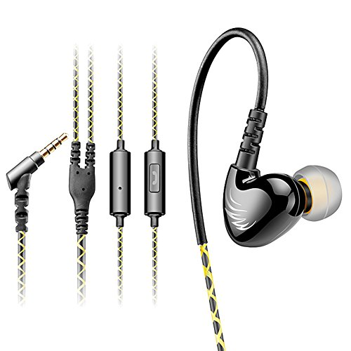 Cosonic w1 con cable auriculares heavy bass auriculares in-ear para deportes running