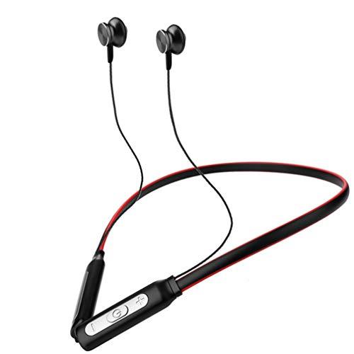 Auriculares inalámbricos ipx5 auriculares bluetooth impermeables para el deporte auriculares ligeros para el cuello con micrófono cancelación de ruido bh1,red