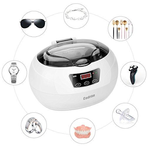Limpiador ultrasónico de 600ml con temporizador para limpiar relojes