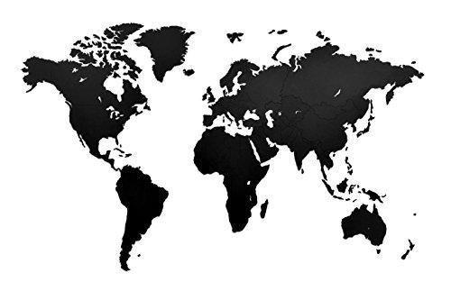 Decoración de pared de mapa del mundo de madera de lujo 130 x 78 cm