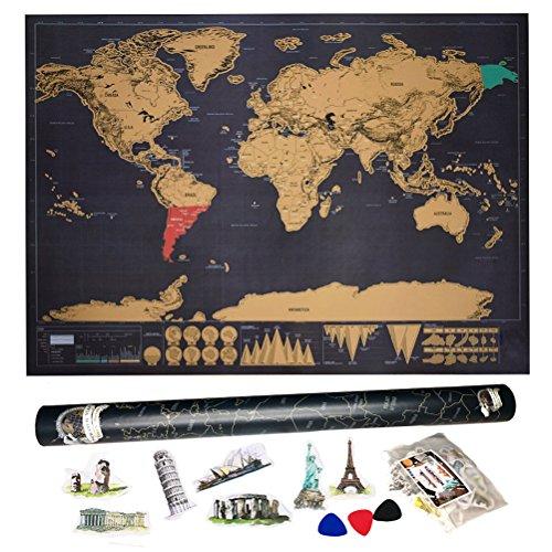 Mapa para rascar deluxe agreenway mapa del mundo