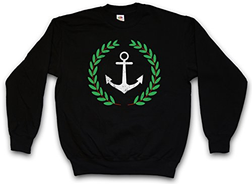 Anchor and wreath sudadera para hombre sweatshirt pullover
