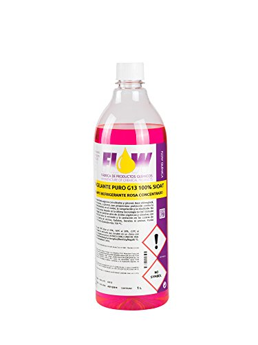 Anticongelante refrigerante g13 puro 100% si-oat rosa 1l x 1