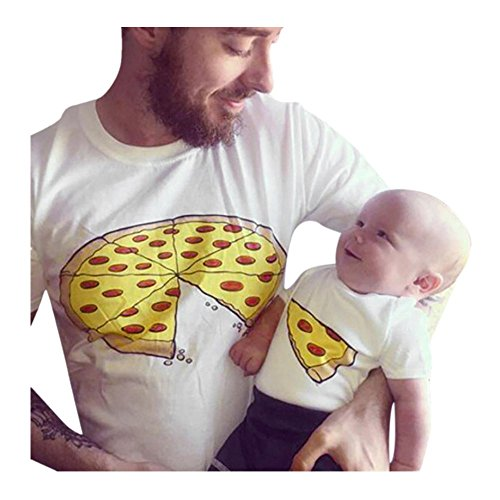 Pizza camiseta de papá y bebé