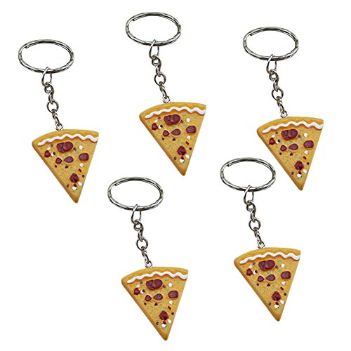 Llavero pizza purse bag car key ring colgante de regalo para mujeres chica conjunto de 5