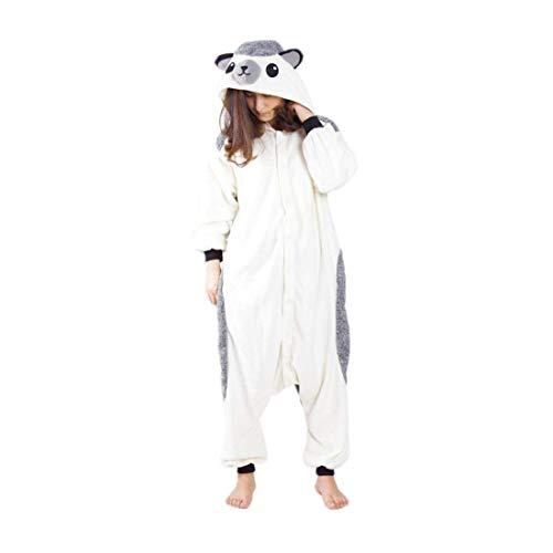 Adulto animal pijamas con capucha kigurumi unisexo la ropa de noche del traje del anime de cosplay disfraz homewear lounge sleepwear del onesie erizo m