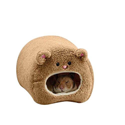 Hamster hamaca cálida colgante cama casa nido jaula invierno suave peluche hamaca juguete para animales pequeños ardilla erizo cobayo cerdo 11 x 11 cm