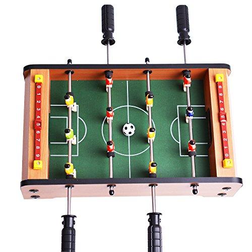 Mini futbolín de mesa de madera mdf durable juegos 36.5cm x 21.5cm x 9cm regalos de cumpleaños y fiestas mucha diversión