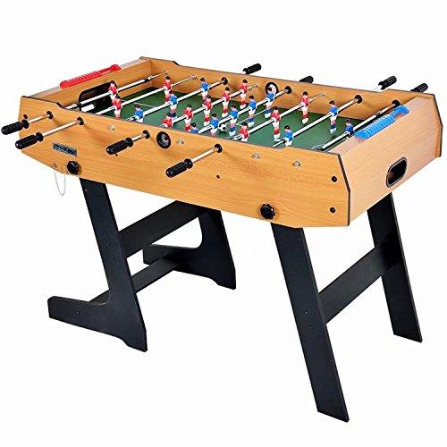 Mesa plegable de fútbol 4 pies 48 * 24 * 34 juego de futbolín juego de mesa de madera competencia clasificada de estilo ábaco y sistema de devolución de bola interna mdf construcción arcade diversión deportiva heavy duty