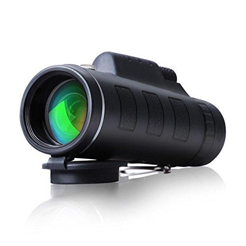 Telescopio monocular 40×60 con enfoque dual zoom óptico impermeable visión partido fútbol pájaros turismo caza senderismo conciertos viaje navegación a prueba de nieble día y noche