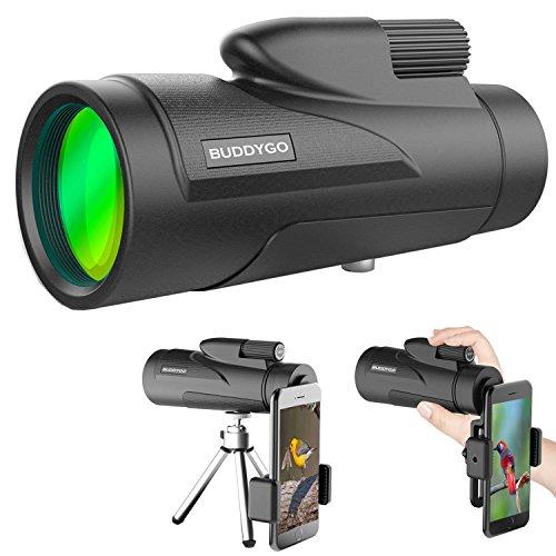 Telescopio monocular buddygo 12 x 50 monoculares prismaticos visión nocturna y diurna binoculars incluye trípode y clip para movil senderismo
